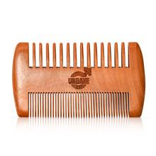 urbane men beard comb natural wood growth style serum