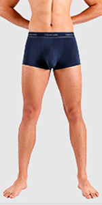 Separatec men's underwear trunks mid rise no wedgies no ride up