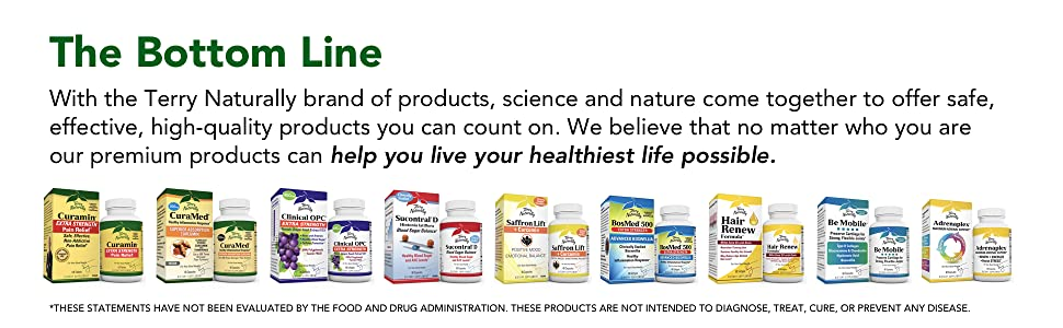The Bottom Line: Terry Naturally's brand of products are safe, effective, and high quality.