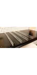 Retail Resource 4103117422 Adhesive-Backed Shelf Dividers Clear Pack of 20, Pack of 20