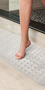 XIYUNTE anti-skid bath mat super-long bath mat with suction cup bath mat