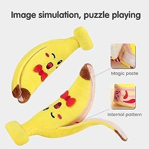 Juguete colgante suave de plátano