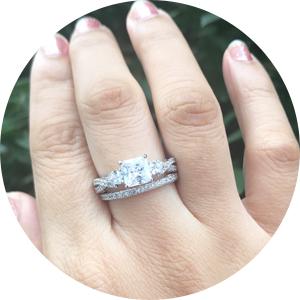 newshe wedding rings for women