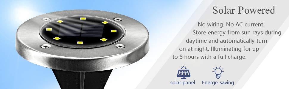太阳能地面盘灯