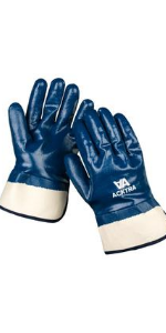 WG007 safety work gloves cotton nitrile fully coated