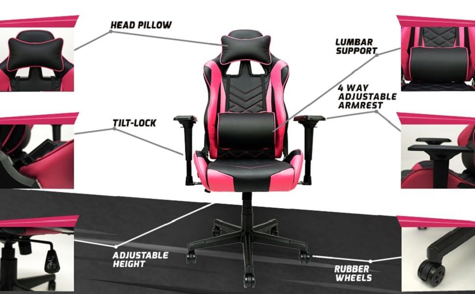girl gaming chair