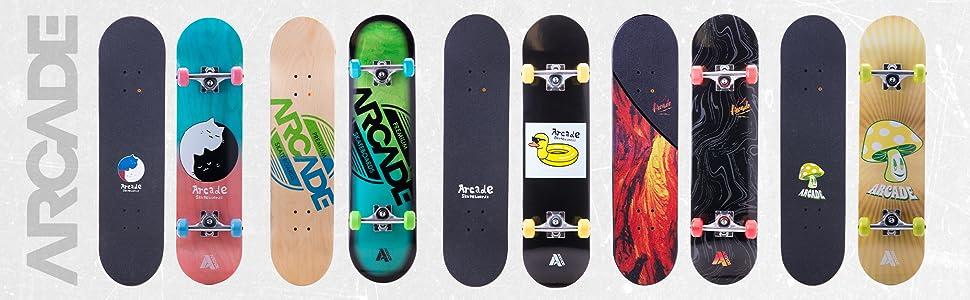 Full Arcade Skateboard Collection