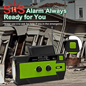 Emergency weather radio with SOS Alarm