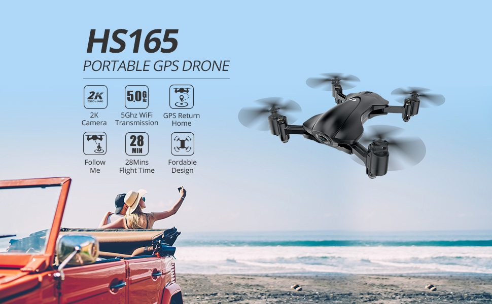 HS165 Portable GPS Drone