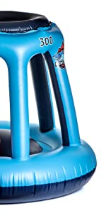 Blue basketball hoop
