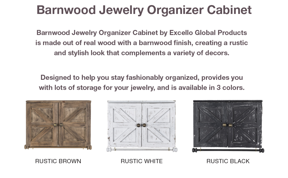 Barnwood Jewelry Organizer Cabinet