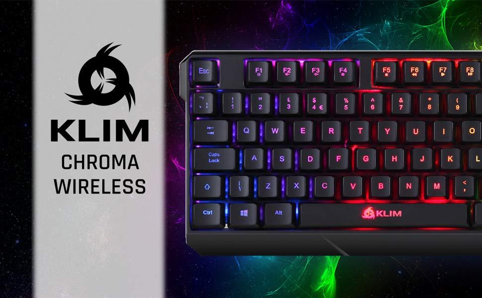 KLIM Chroma Teclado Inalámbrico Gaming en QWERTY - Wireless ...