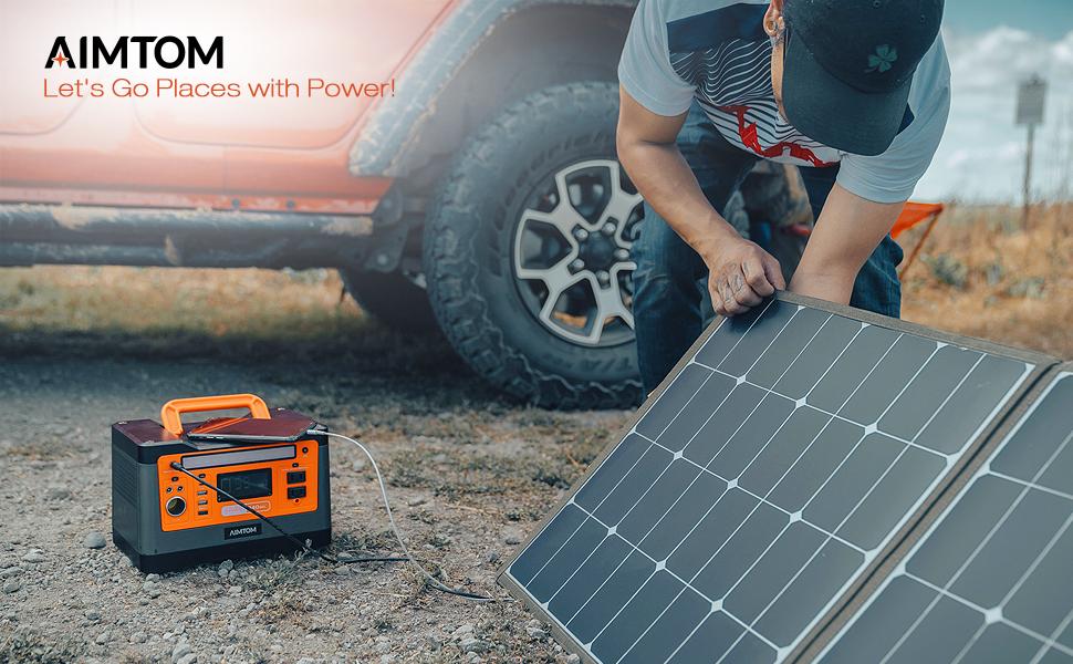 aimtom 100w foldable solar panel