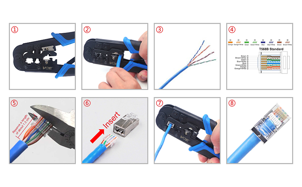 RJ45 Crimping Tool and Crimper Cutter