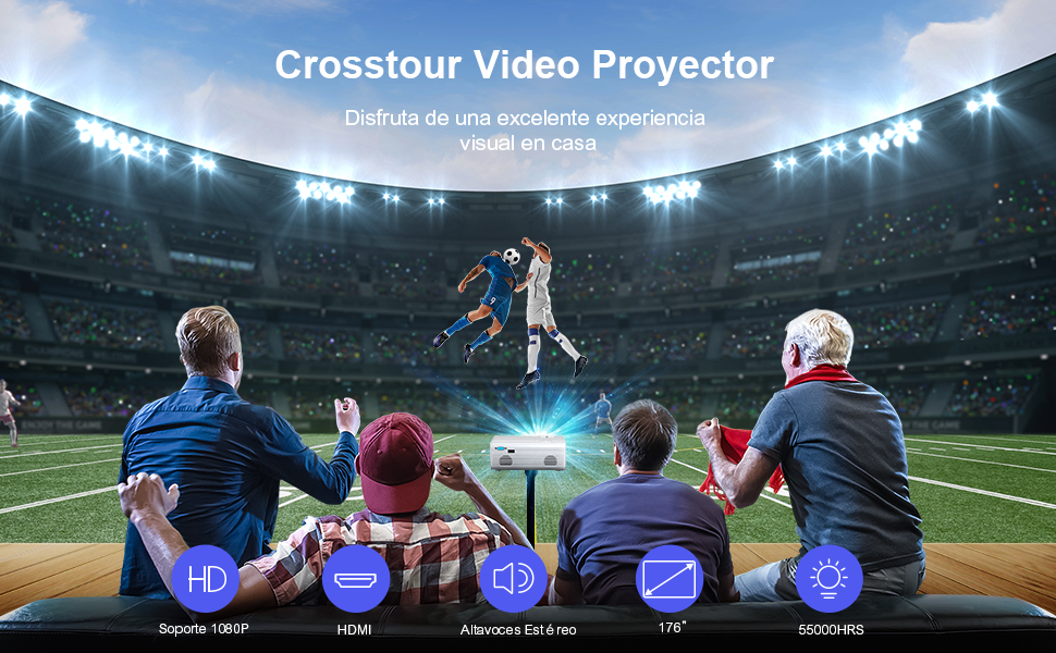 Mini proyector portátil Video Cine en casa