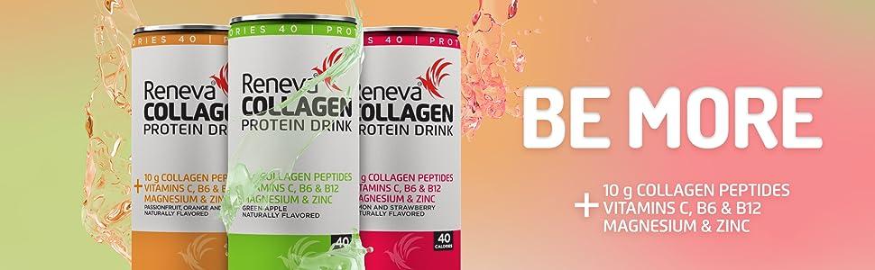 Collagen reneva peptides vitamin collagan protein drink