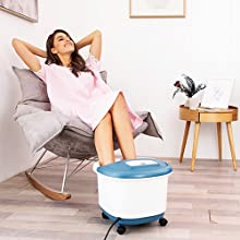 foot spa bath massager with heat and massage and bubbles