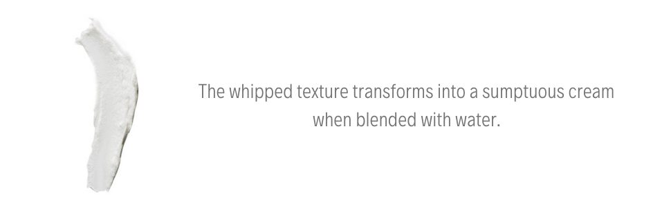 First Aid Beauty Face Cleanser whipped texture transforms into a sumptuous cream blended with water