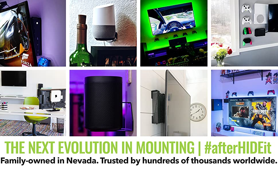 Next Evolution in Wall mounting for cable boxes, mini PCs, satellite receivers and more!