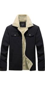 furry mens jackets mens jacket fur collar sherpa lined jacket men army jacket men mens puffy jackets