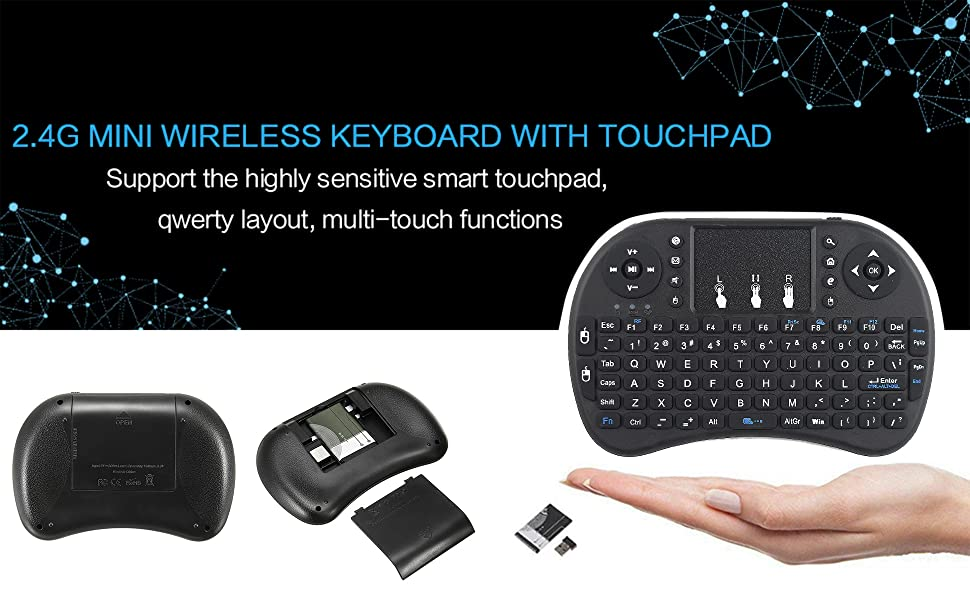 2.4GHz Wireless Mini Keyboard with TouchPad