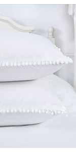 POMPOMS PILLOW SHAMS