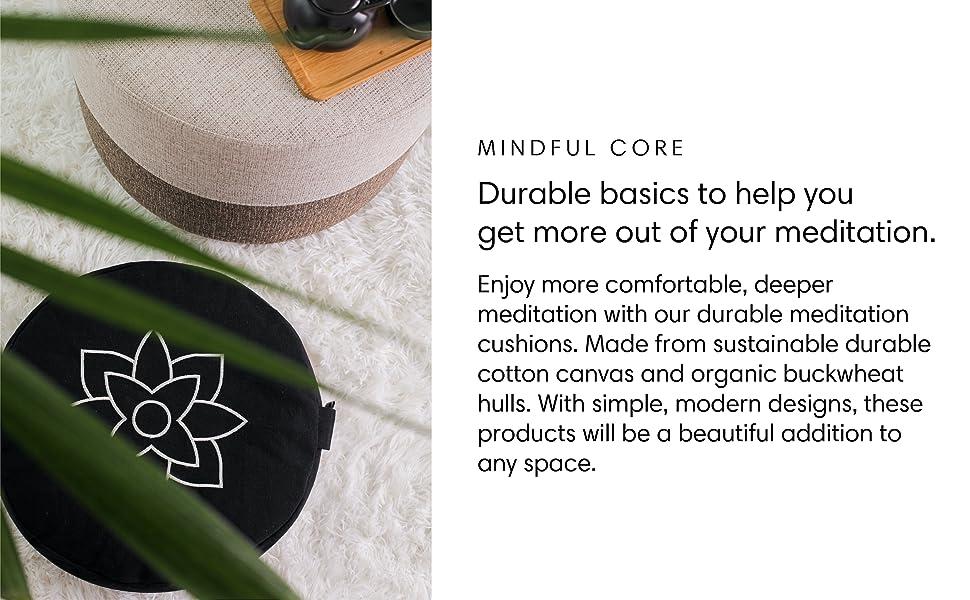 black meditation cushion cotton pillow