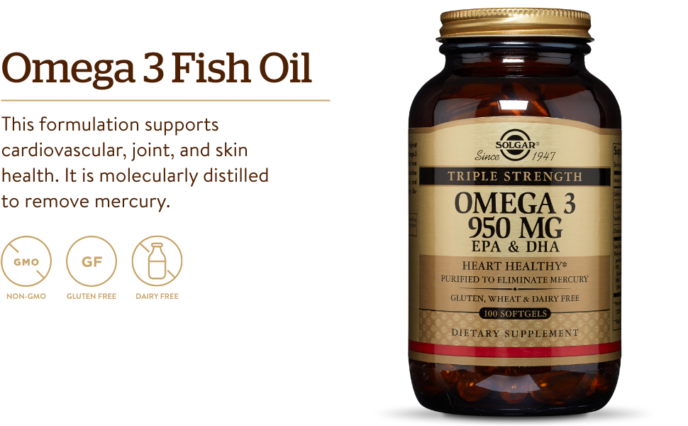 Supports Cardiovascular, Joint, Skin & Heart Health - Essential Fatty Acids