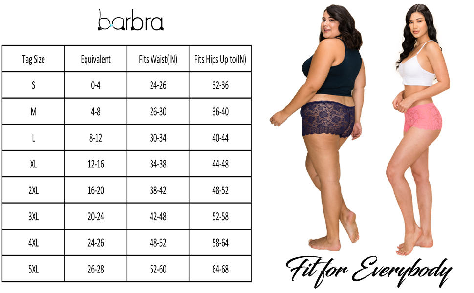 fit for everybody, perfect fit, blumers de mujer, lace boy shorts, Small, XL, 2XL, 3XL, 4XL, 5XL