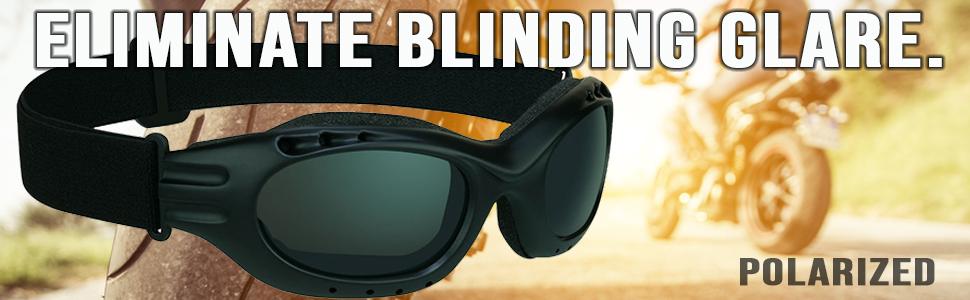 polarized motorcycle goggles biker sunglasses cuts glare