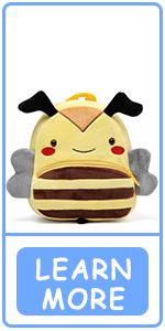 Mochila para bebé abeja amarilla