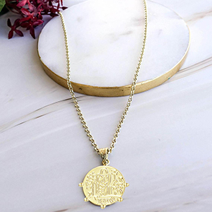 Coin paper clip necklace