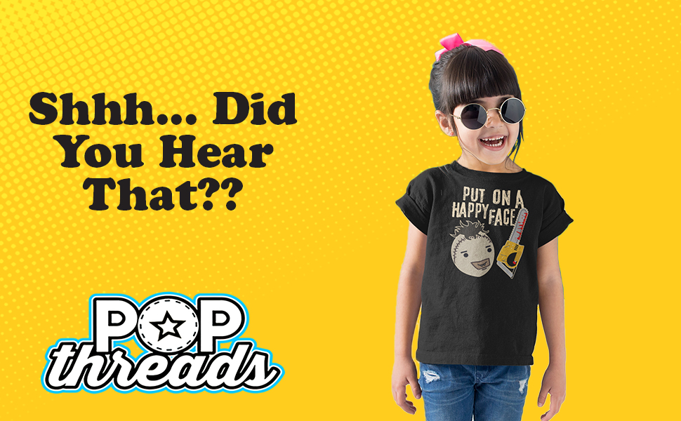 Pop Threads Horror Movie Scary Funny Halloween Jason Retro 80s Toddler Kids Girl Boy T-Shirt
