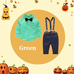 Newborn Baby Boys Gentleman Outfits Suits, Infant Short Sleeve Shirt+Bib Pants+Bow Tie Overalls