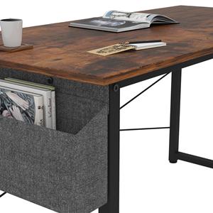 home desk with storage bag