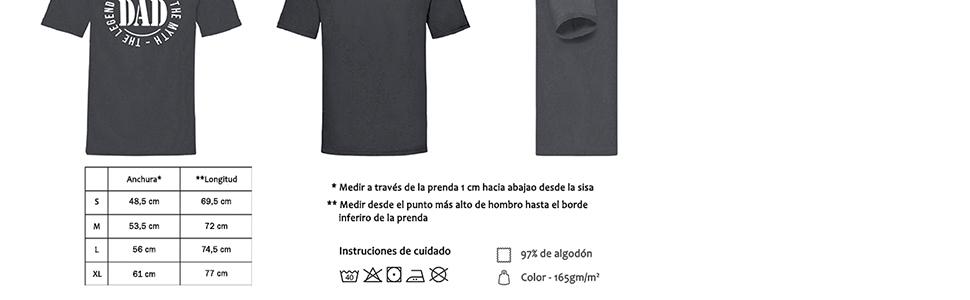 MIMUSELINA Regalo Padres Primerizos   Regalo Original para Papas   Pack Dia del Padre de Camiseta (Talla L), Taza y Llavero de Madera Dad, con Sello