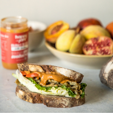sandwich chilli chutney peanut butter natural protein savory happy jars