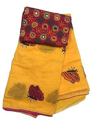 Butterfly Chanderi Saree