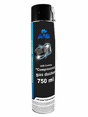 AAB PC Spray Limpiador 750ml para Limpiar Teclados, Ordenadores, Copiadoras, Cámaras, Impresoras | Spray Duster | Ideal para la Eliminación de Polvo | ...