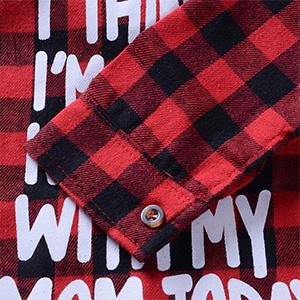 boy letter print shirt