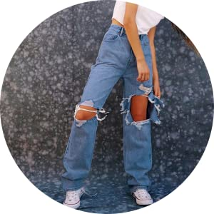Hole Wide Leg Jeans