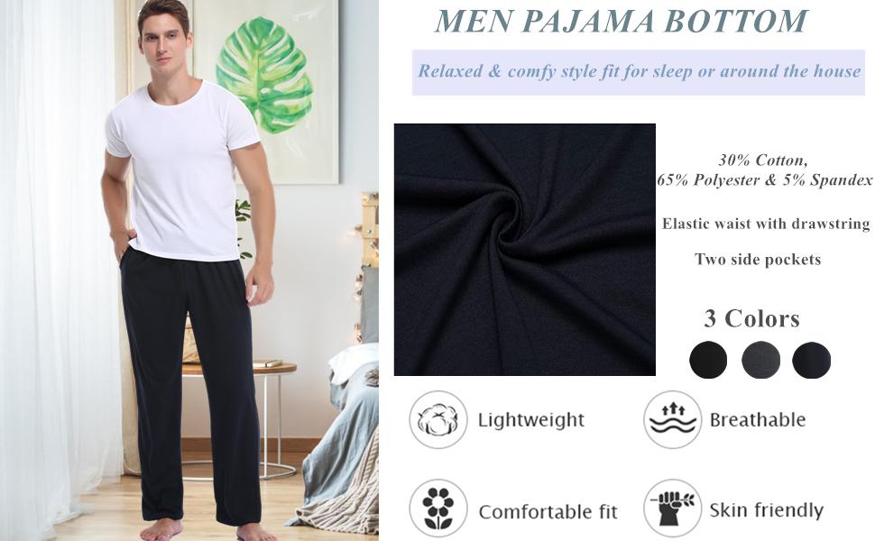 Vlazom Mens Sleep Pants Long Lounge Pant