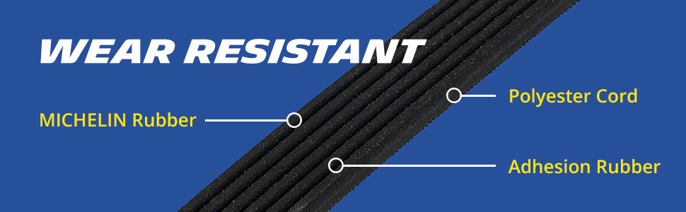 wear resistant MICHELIN rubber polyester cord adhesion