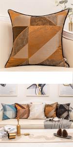 brown satin pillow cover