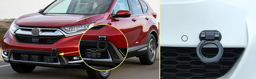 Xotic Tech Car Decoration JDM Track Racing Stick On Towing Hook Ring Look Decor for Car Trunk Black