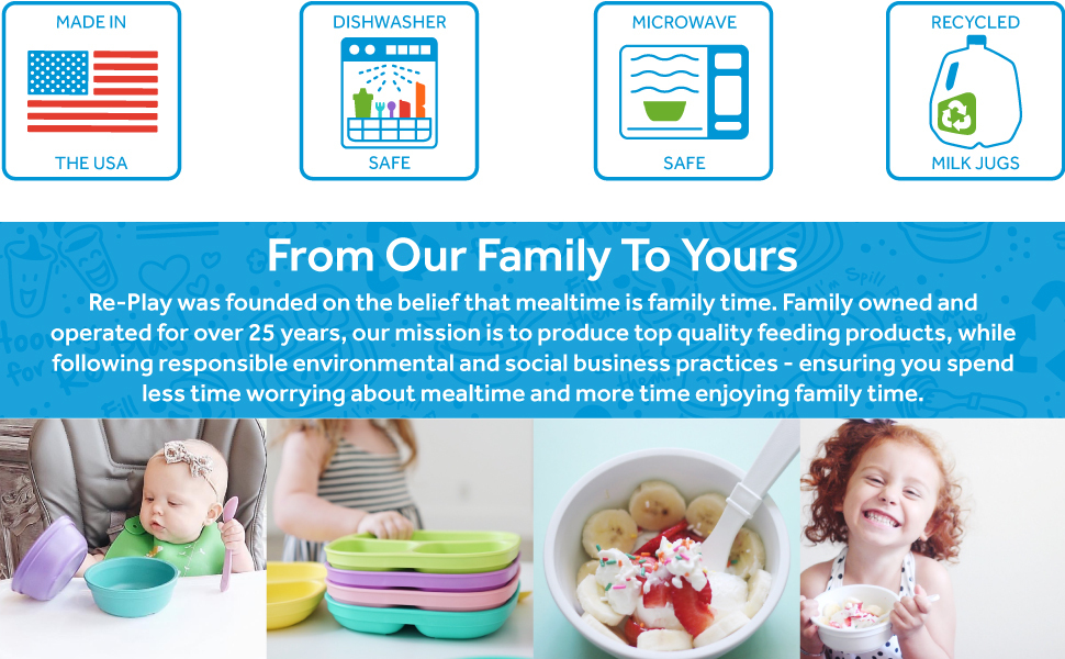 Re-Play was founded on the belief the mealtime is family time.