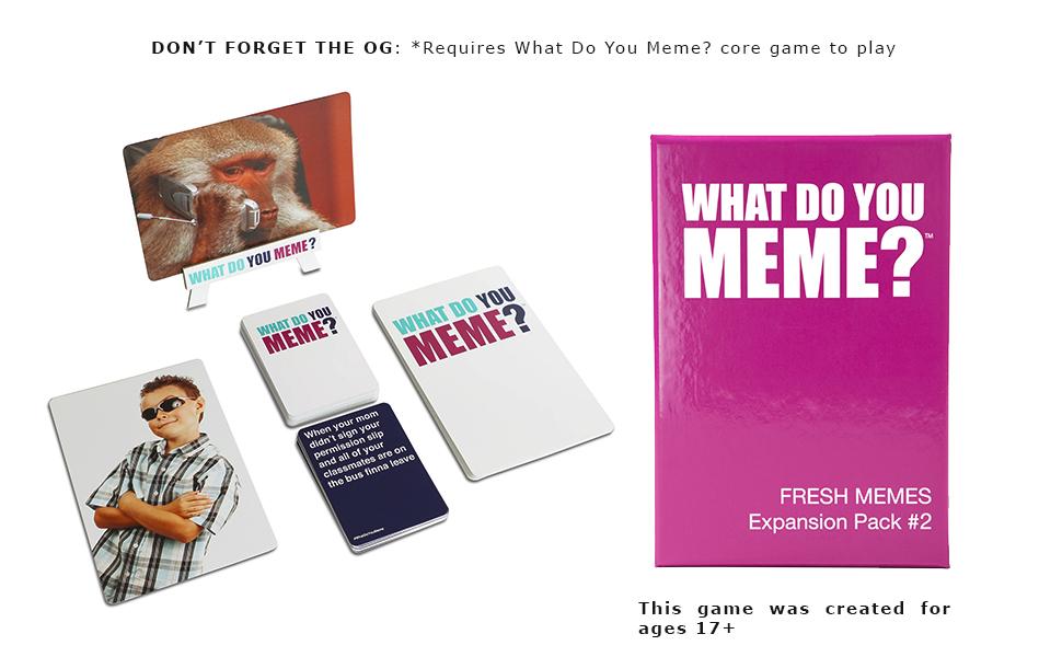 Amazon Com What Do You Meme Fresh Memes Expansion Pack 2 Toys