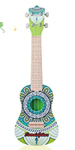 Amazon Com 17 Inch Kids Ukulele Guitar Toy 4 Strings Mini Children Musical Instruments Educational Learning Toy For Toddler Beginner Keep Tone Anti Impact Can Play With Picks Strap Primary Tutorial Pink Musical Instruments