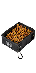 dog pet treat food water bowl foldable easy carrying