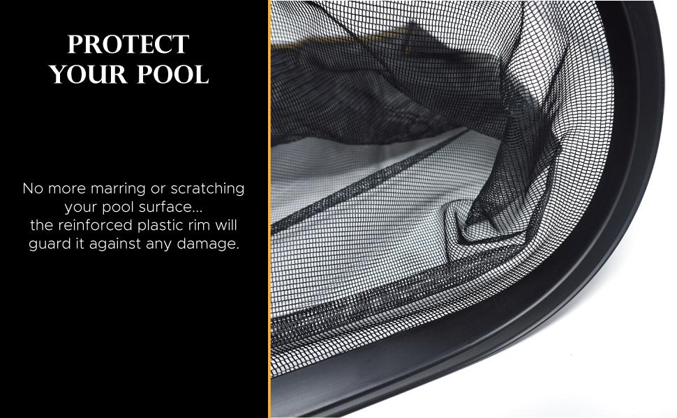 pool skimmer net leaf catcher deep mesh bag cleaner tool